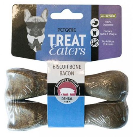 Biscuit bone 11cm, Bacon, 2-pack