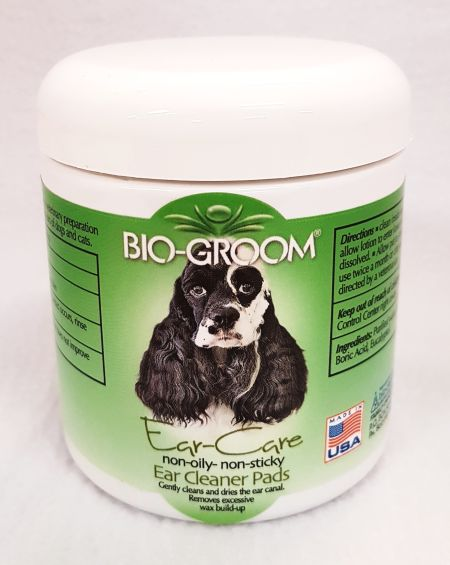 BIO-GROOM EAR CARE PADS 25pads burk