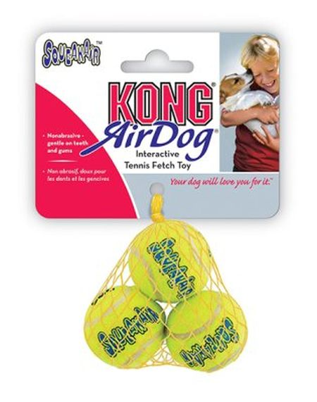 Air Kong squeaker ball, 4cm, 3-pack