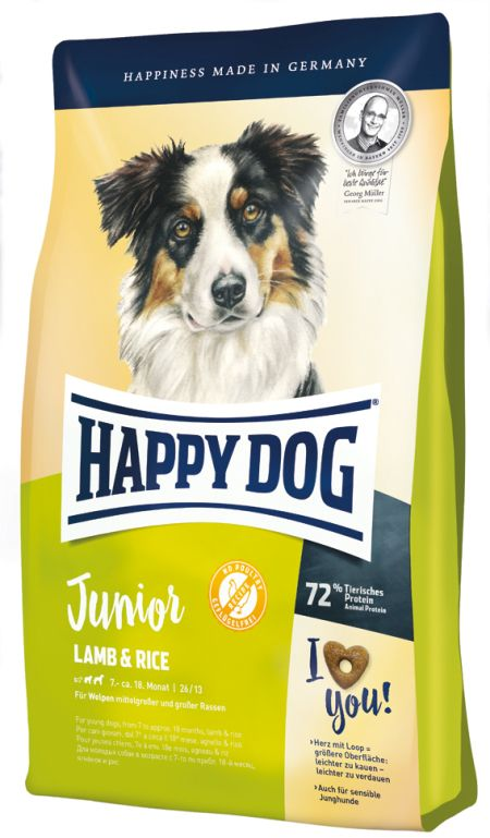 HappyDog Junior lamb & rice, 4kg