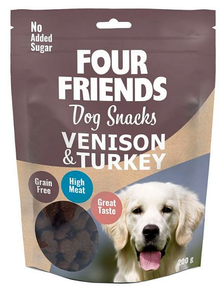 FourFriends Dog snacks Venison & Turkey, 200g