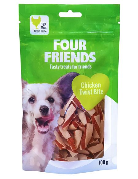 FourFriends Chicken twist bite, 100g