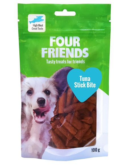 FourFriends Tuna stick bite, 100g
