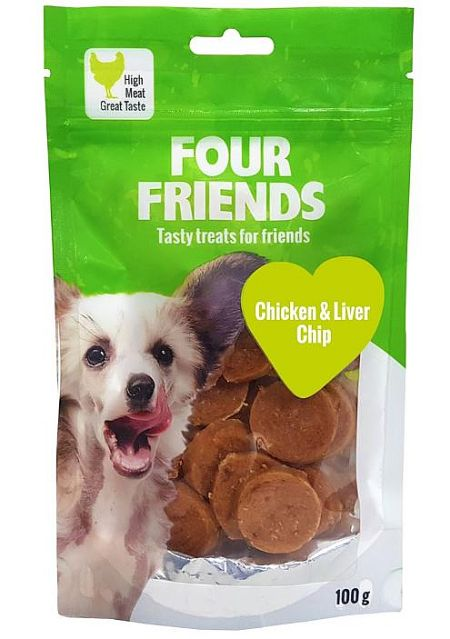 FourFriends Chicken N rawhide, 400g