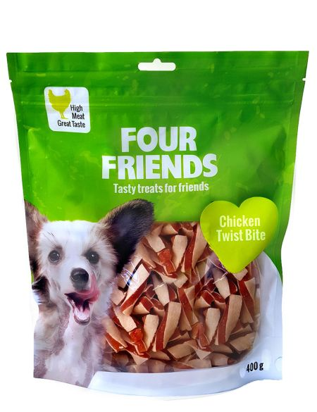 FourFriends Chicken twist bite, 400g