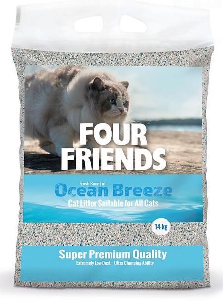 Four Friends Kattsand Ocean breeze, 14kg