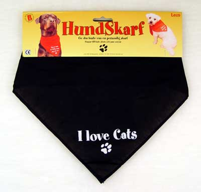 Scarf svart - I love cats