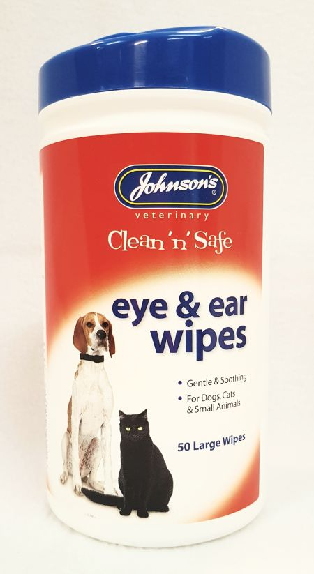 Ear and Eye wipes large, 50st